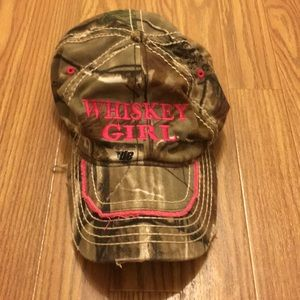 'Whiskey GIRL' Camo Baseball Hat